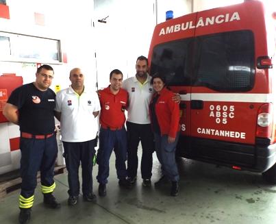 Bombeiros de Cantanhede fazem parto em ambulância