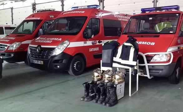 Bombeiros de Troisvierges doaram equipamento aos Bombeiros de Cantanhede