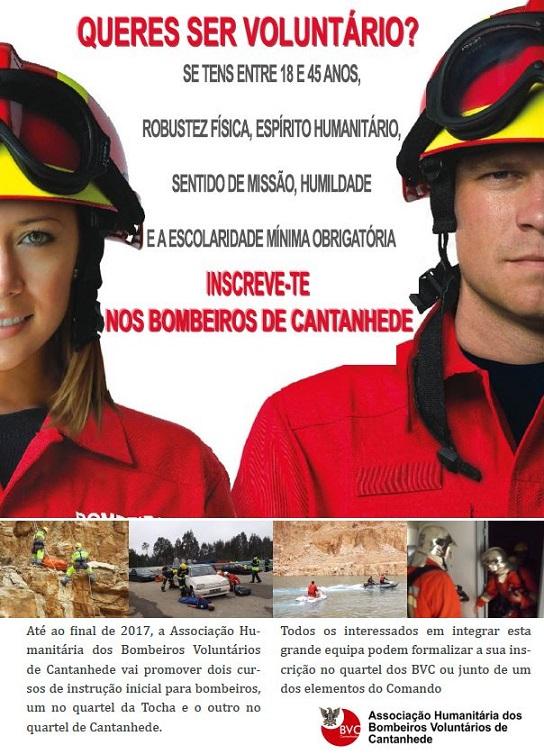 ver notícia Abertas inscrições para os Bombeiros de Cantanhede