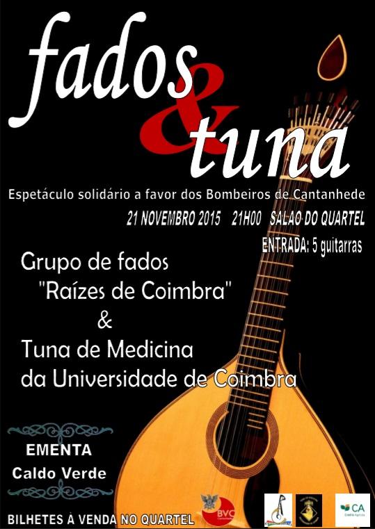 Raízes de Coimbra e Tuna de Medicina em espetáculo a favor dos Bombeiros