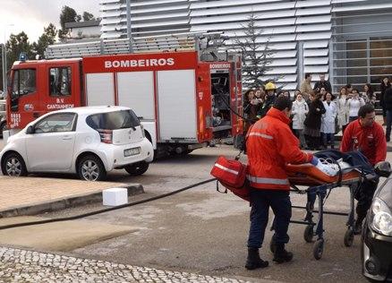 Bombeiros participaram em simulacro de incêndio no Biocant