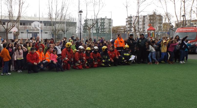 Simulacro de incêndio no Centro Escolar de Cantanhede encerrou Semana da Proteção Civil