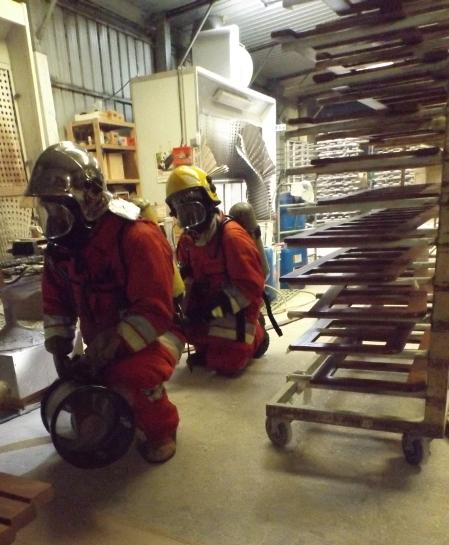 Simulacro de incêndio na Lusimat