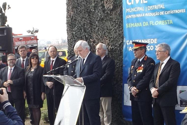 Secretário de Estado da Administração Interna inaugurou Semana da Proteção Civil