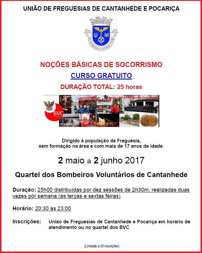 """Curso """"Noções Básicas de Socorrismo"""" em Cantanhede arranca a 2 de maio"""
