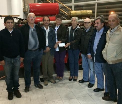Comissão de Festas de Nossa Senhora de Vagos ofereceu 250 euros aos Bombeiros